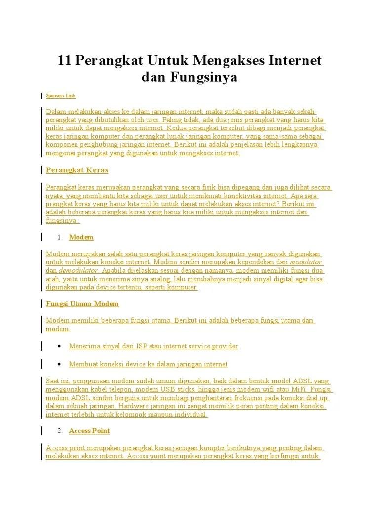 Perangkat Akses Internet Dan Fungsinya : perangkat, akses, internet, fungsinya, Perangkat, Untuk, Mengakses, Internet, Fungsinya