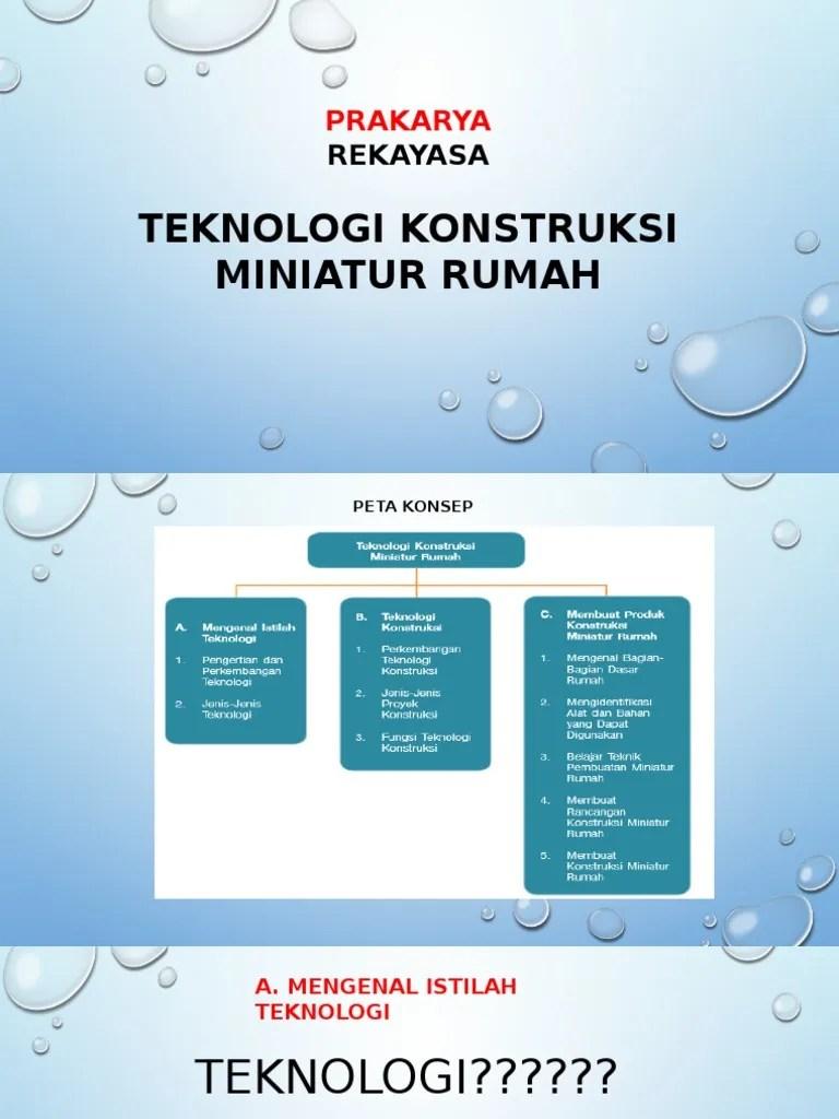 Teknologi Konstruksi Miniatur Rumah : teknologi, konstruksi, miniatur, rumah, Rekayasa