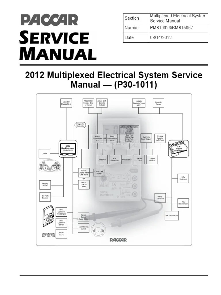 hight resolution of paccar 2010 multiplexed electrical system sevice manual p30 1011 switch manual transmission