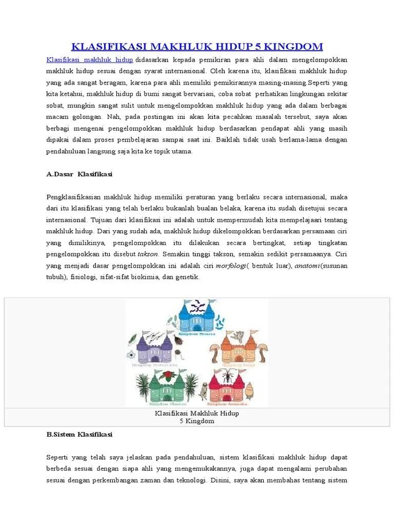 Klasifikasi Makhluk Hidup Sistem 6 Kingdom