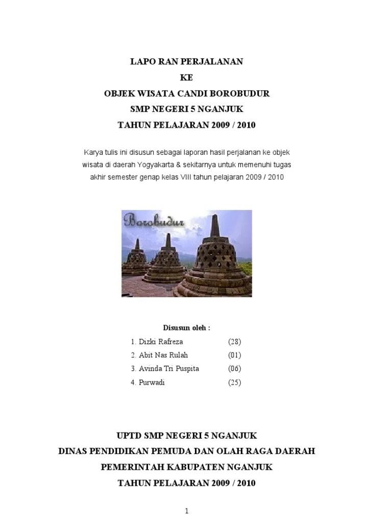Contoh Laporan Study Tour Ke Yogyakarta Seputar Laporan Cute766