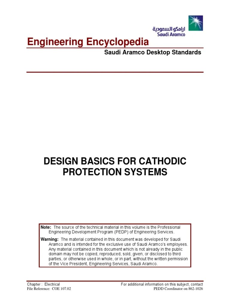 medium resolution of coe 107 02 design basics for cathodic protection systems rectifier anode