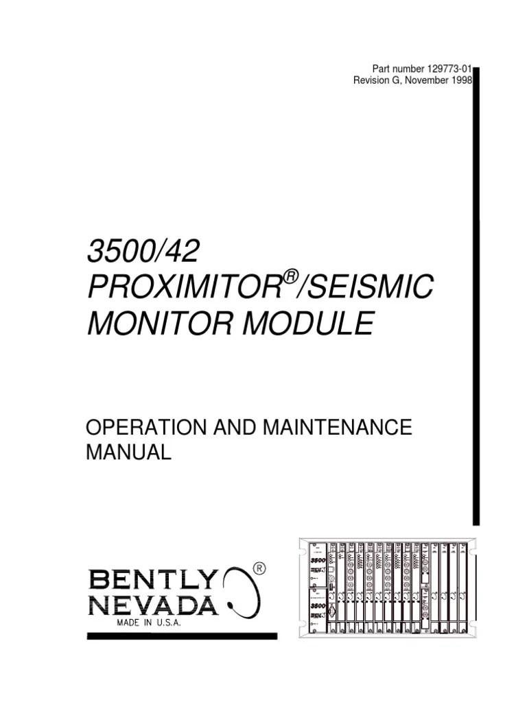 hight resolution of  3500 42 proximitor seismic monitor module op maintenance man diagram bently wiring seismic bently nevada