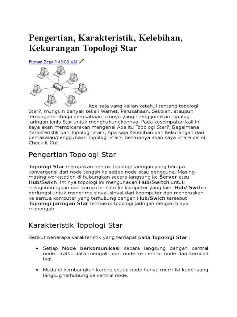 Pengertian Topologi Star : pengertian, topologi, Pengertian, Topologi