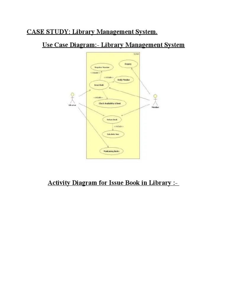 use case diagram library management system sony xplod study