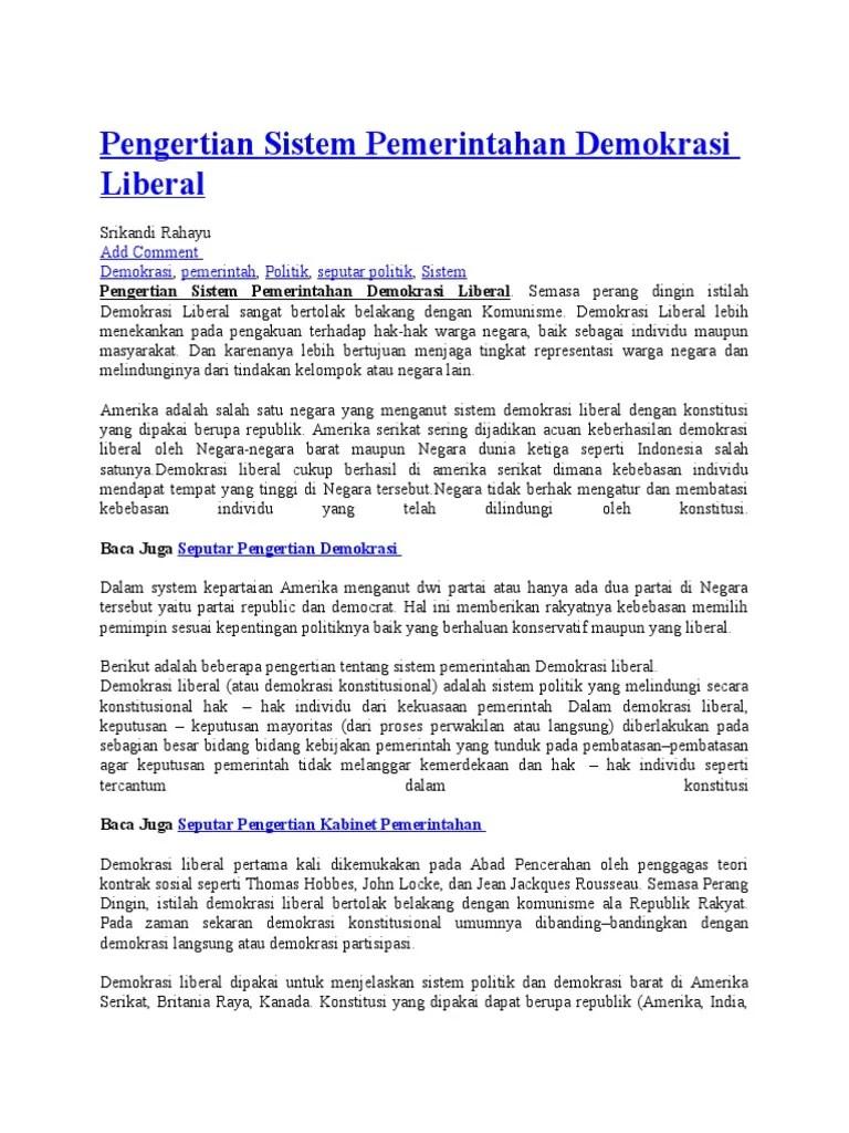 Pada Masa Demokrasi Liberal Bangsa Indonesia Menganut Sistem Pemerintahan : demokrasi, liberal, bangsa, indonesia, menganut, sistem, pemerintahan, Demokrasi, Liberal, Bangsa, Indonesia, Menganut, Sistem, Pemerintahan, Dengan