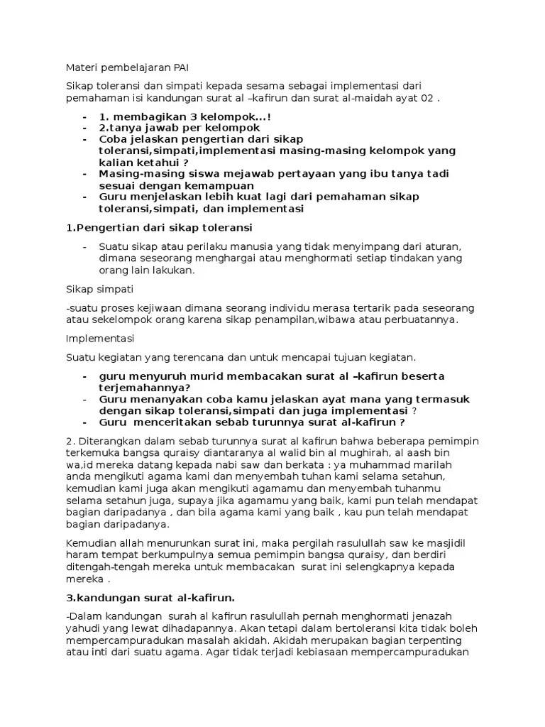 Penjelasan Surat Al Kafirun : penjelasan, surat, kafirun, Pembahasan, Surat, Kafirun
