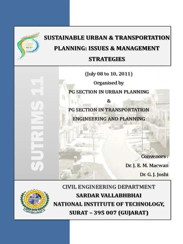 SUTRIMS 2011 Proceedings Sustainable City Sustainability