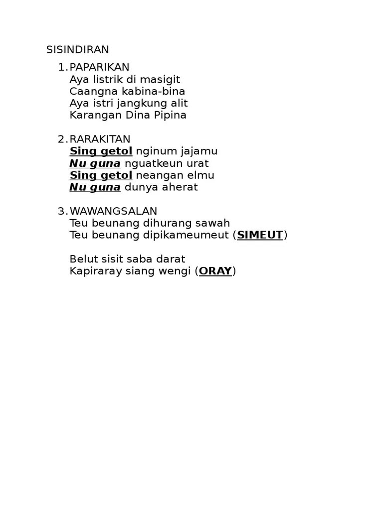 Sisindiran Bahasa Sunda : sisindiran, bahasa, sunda, Sisindiran