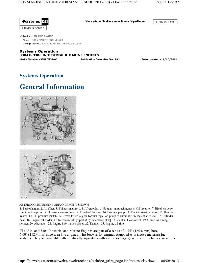 fuel system operation 3304 new scroll internal combustion engine turbocharger [ 768 x 1024 Pixel ]