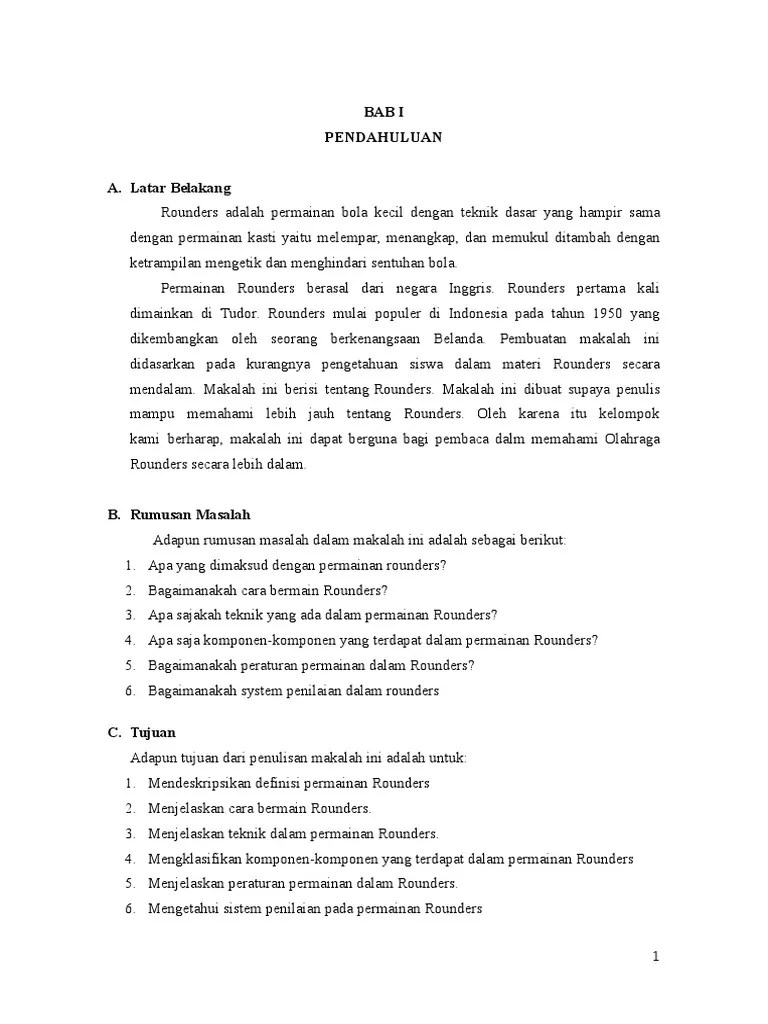Peraturan Rounders : peraturan, rounders, Makalah, Rounders