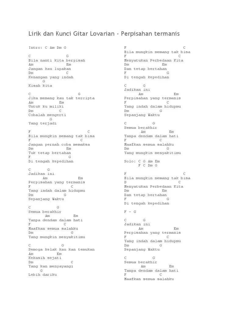 Kunci Gitar Perpisahan Termanis : kunci, gitar, perpisahan, termanis, Chord, Gitar, Lovarian, Perpisahan, Termanis