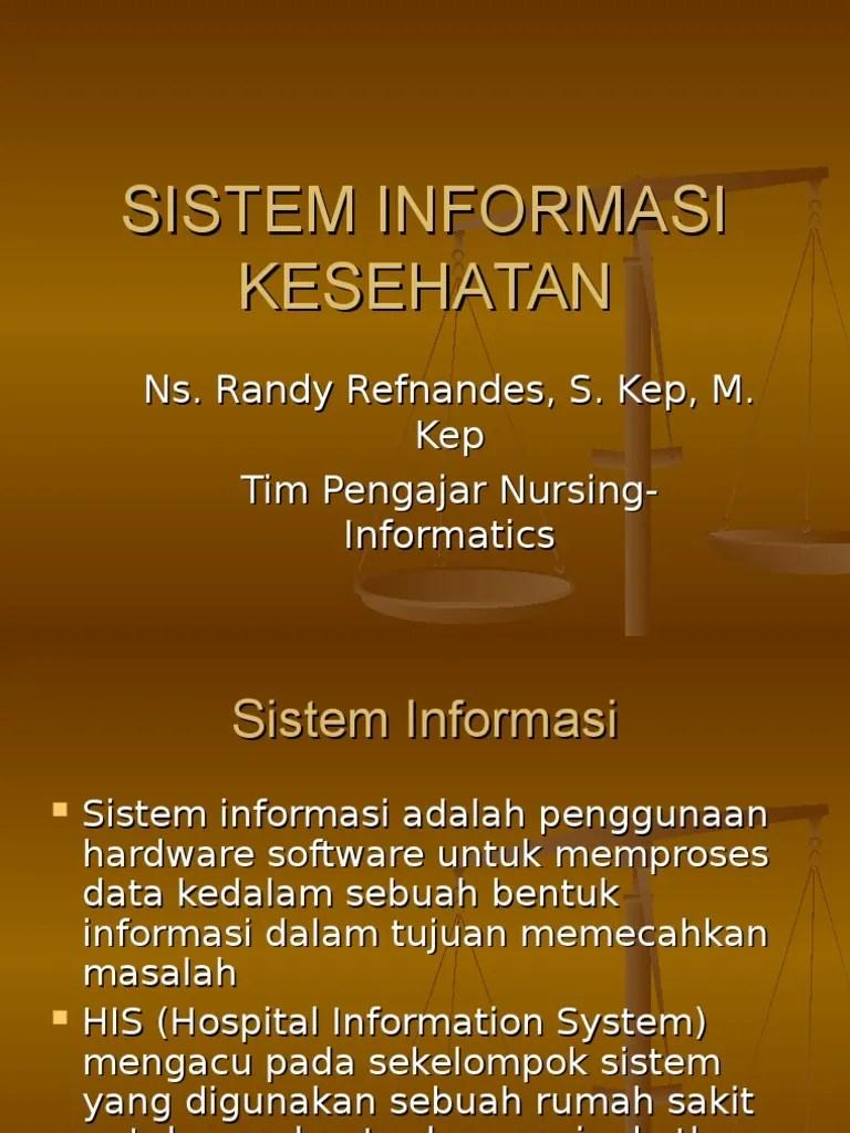 Sistem Informasi Kesehatan Ppt B