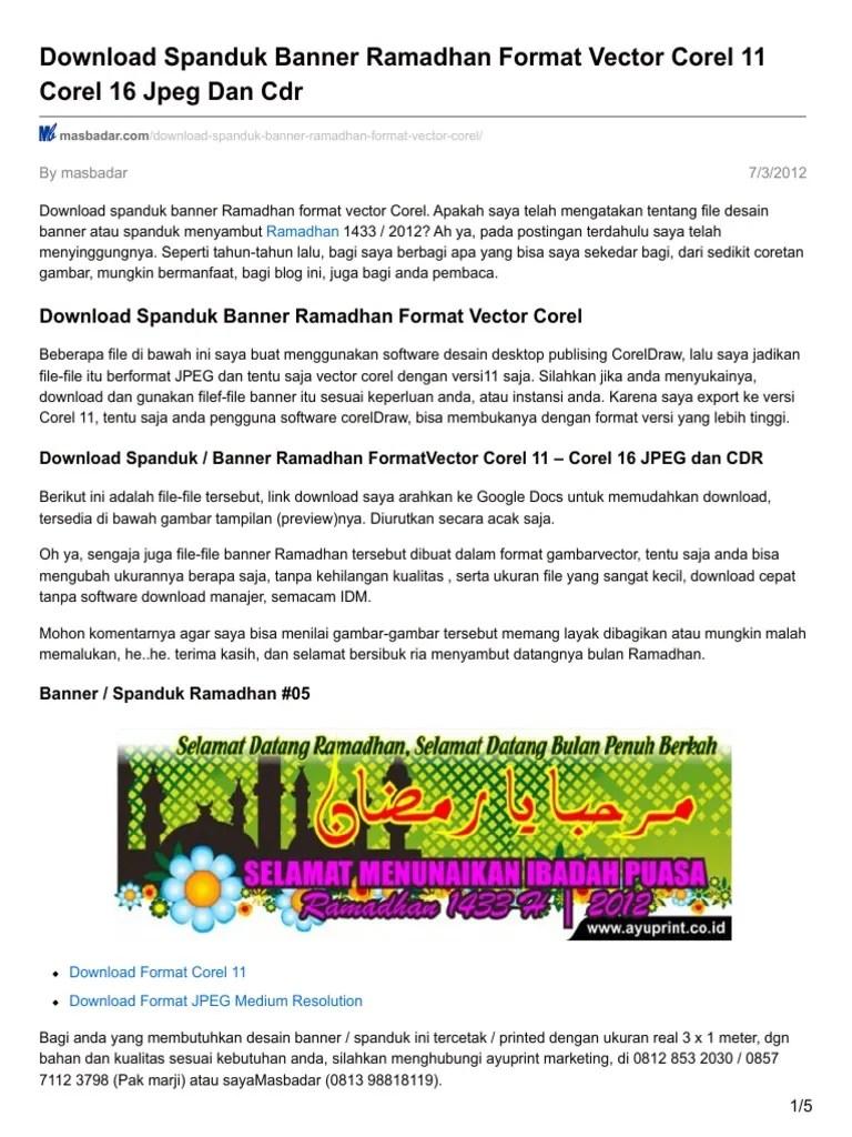Banner Haji Format Cdr : banner, format, Desain.ratuseo.com