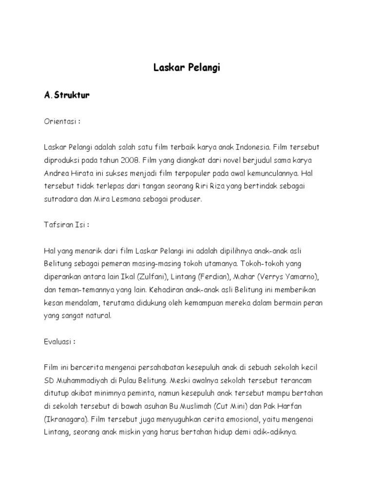 Contoh Teks Ulasan Novel Laskar Pelangi : contoh, ulasan, novel, laskar, pelangi, Contoh, Ulasan, Laskar, Pelangi, Barisan