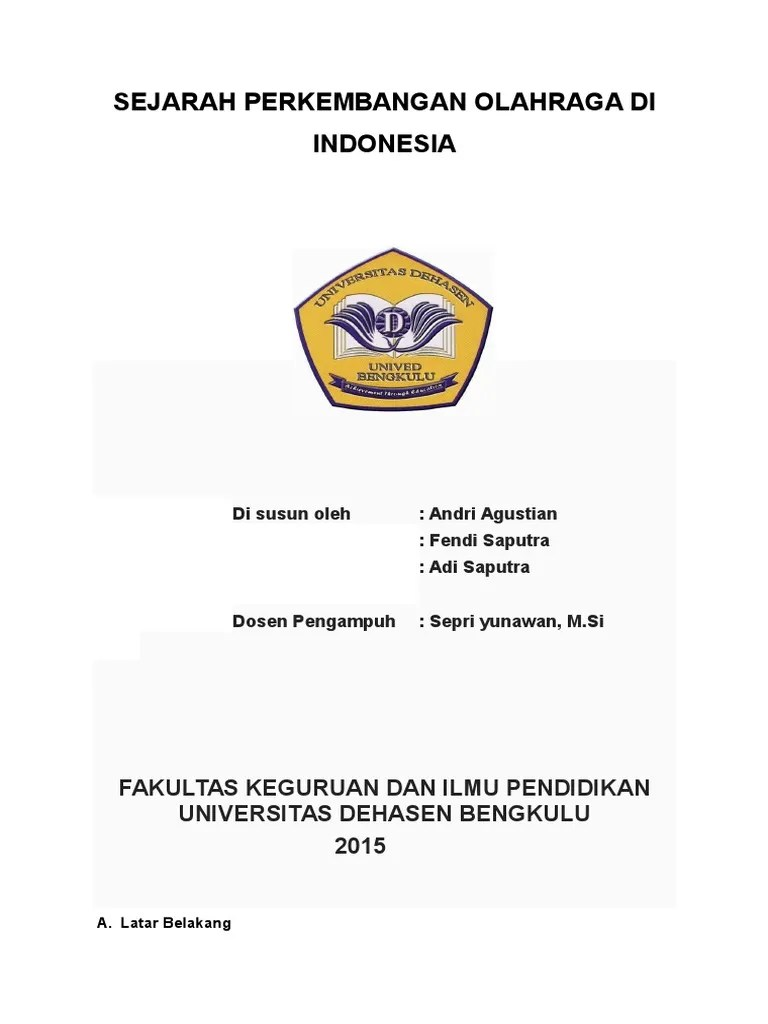 Sejarah Perkembangan Olahraga Di Indonesia : sejarah, perkembangan, olahraga, indonesia, Sejarah, Perkembangan, Olahraga, Indonesia, Seputar
