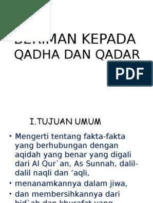 Fungsi Iman Kepada Qada Dan Qadar : fungsi, kepada, qadar, Dalil, Tentang, Kepada, Qadar