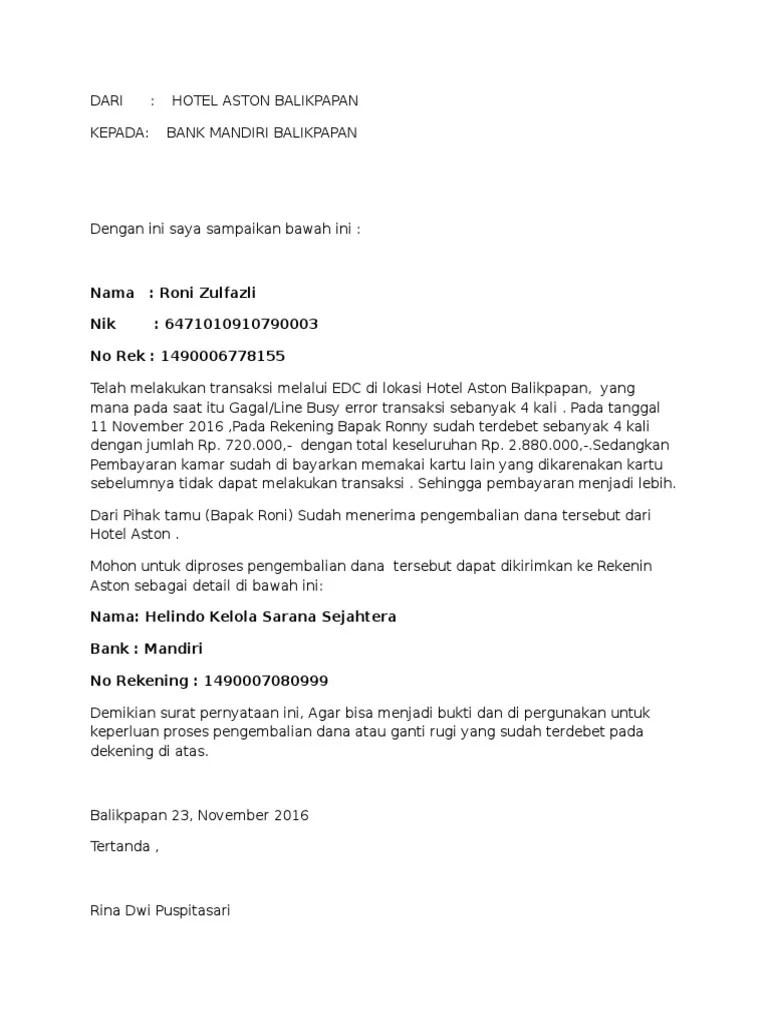 Surat Permohonan Pengembalian Kelebihan Pembayaran Pajak : surat, permohonan, pengembalian, kelebihan, pembayaran, pajak, Contoh, Surat, Permohonan, Pengembalian, Kelebihan, Transfer, Cute766