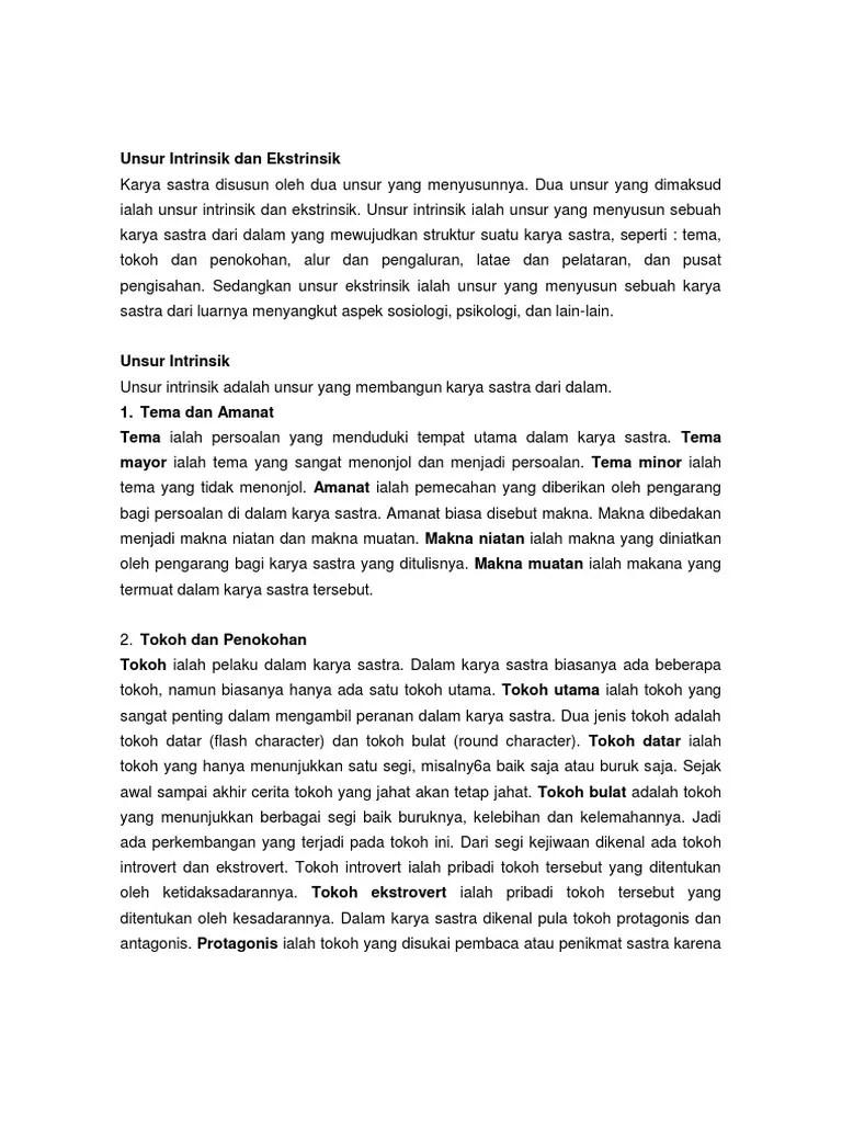Pengertian Unsur Intrinsik Dan Unsur Ekstrinsik : pengertian, unsur, intrinsik, ekstrinsik, Pengertian, Unsur, Intrinsik, Ekstrinsik, Berbagai