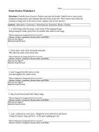 worksheet. Literary Devices Worksheet. Grass Fedjp ...