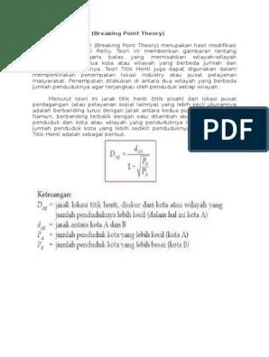 Teori Titik Henti (Breaking Point Theory) | Belajar SIG Lanjut