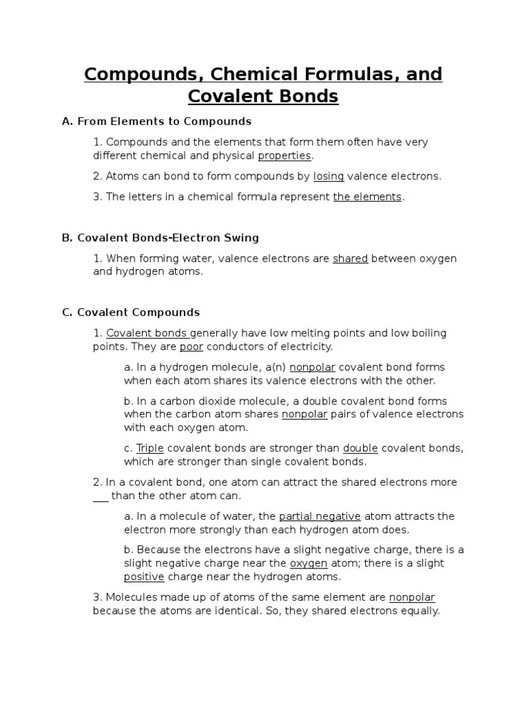 medium resolution of compounds chemical formulas and covalent bonds   Chemical Compounds   Ion