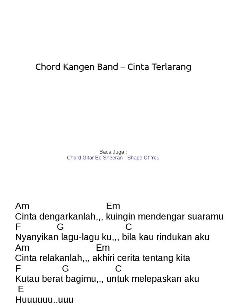 Kangen Band - Cinta Terlarang (kunci & lirik) Cover