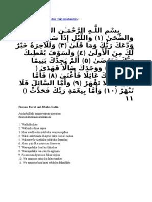 Tafsir Surat Ad Dhuha : tafsir, surat, dhuha, Surat, Dhuha, Printer, Sedr.causenyuh.site