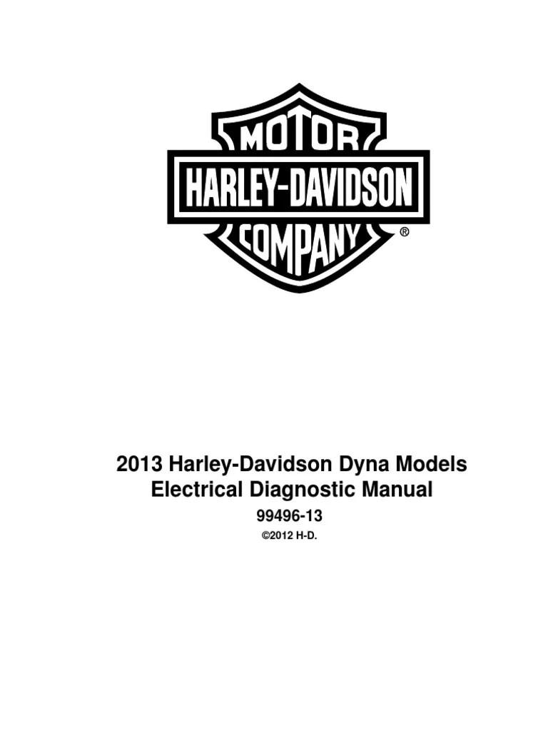 2013 dyna electrical diagnosis pdf harley davidson manufactured goods [ 768 x 1024 Pixel ]