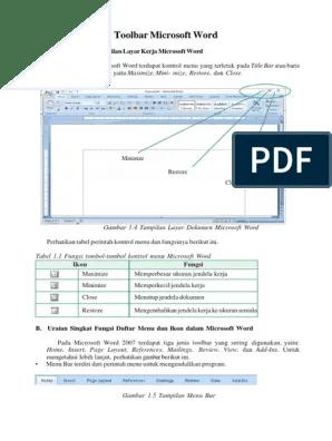 Pengertian Toolbar Standar : pengertian, toolbar, standar, Toolbar, Standar