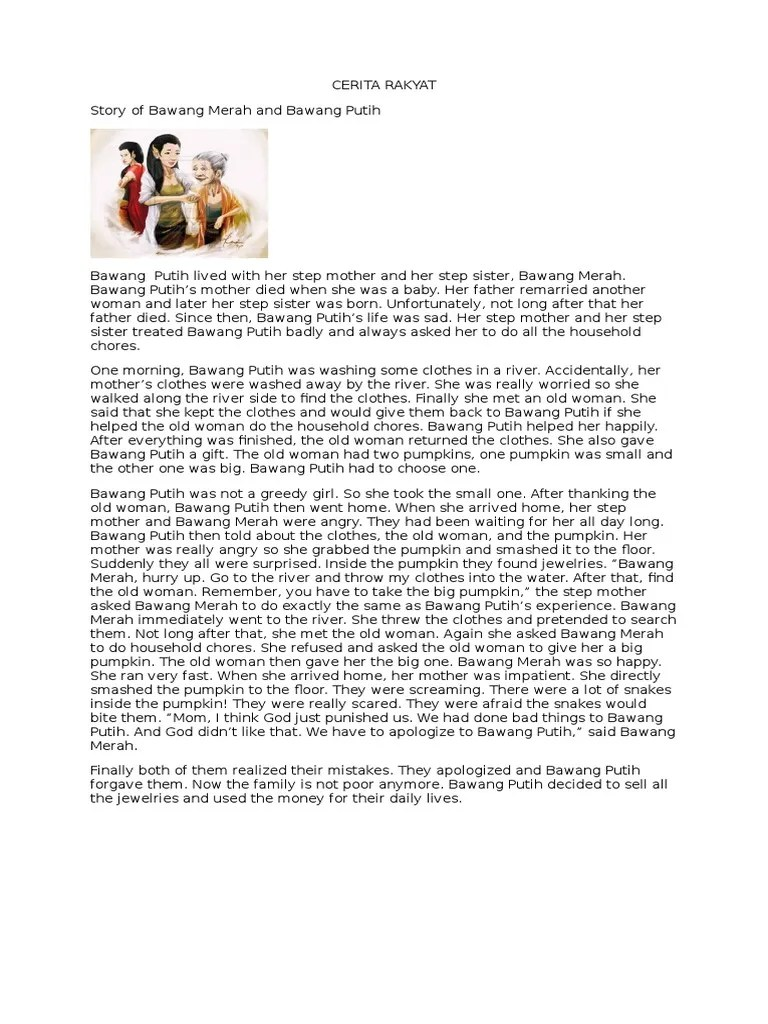 Cerita Bawang Merah Bawang Putih : cerita, bawang, merah, putih, CERITA, RAKYAT, Ghosts, Primary, Education