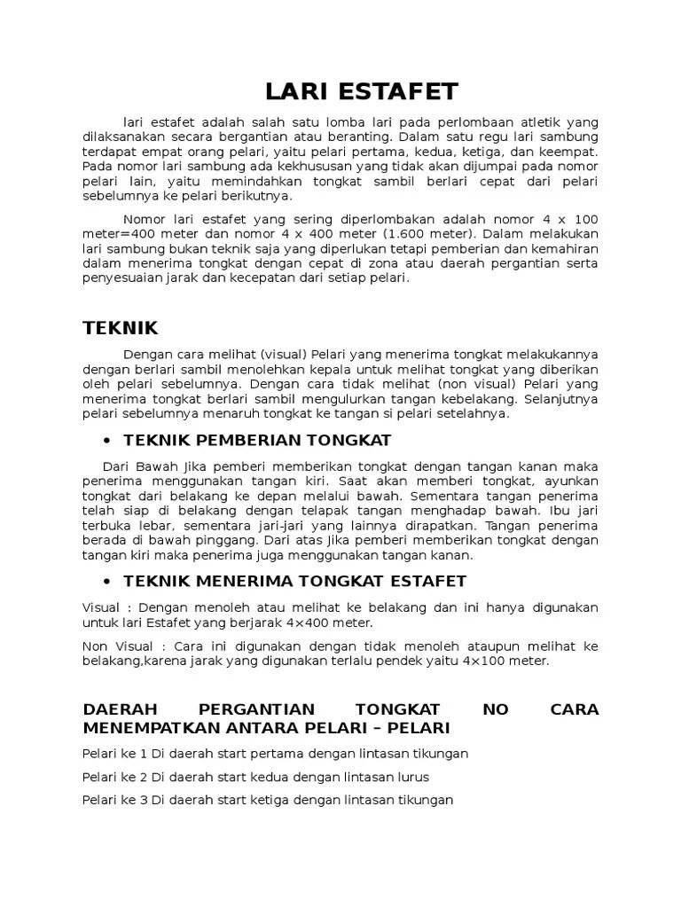 Jarak Pergantian Tongkat Estafet : jarak, pergantian, tongkat, estafet, Estafet