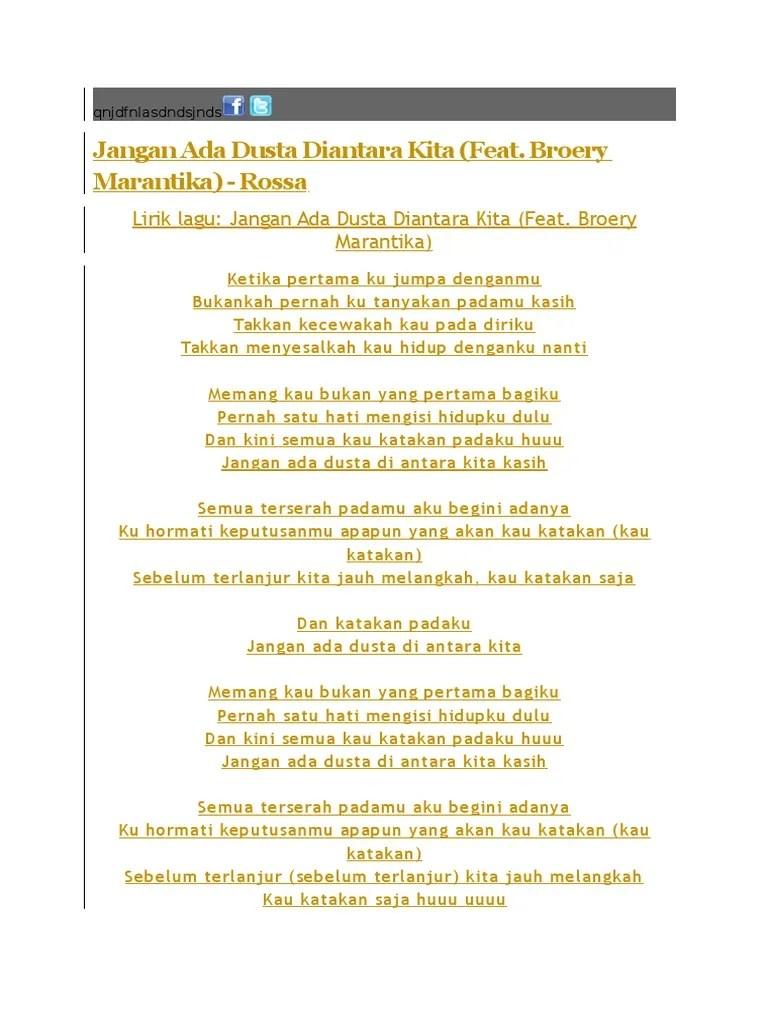 Lirik Jangan Ada Dusta : lirik, jangan, dusta, Download, Pumped, Terbaru