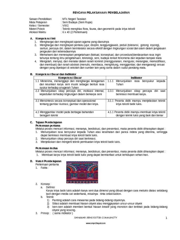 Rpp Seni Budaya Smp Kelas 7 8 9 Kurikulum 2013 : budaya, kelas, kurikulum, Budaya, Kelas, Semester, 2-K13