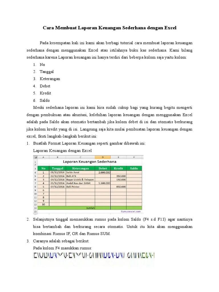 Rumus Excel Saldo Debet Kredit : rumus, excel, saldo, debet, kredit, Membuat, Laporan, Keuangan, Sederhana, Dengan, Excel, Sheet