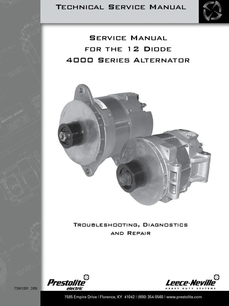 medium resolution of leece neville 4000 series alternator service manual rectifier leece neville pad mount alternator wiring diagram
