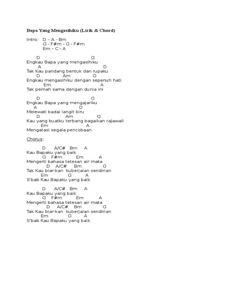 Bapaku Yang Baik Lirik : bapaku, lirik, Mengasihiku