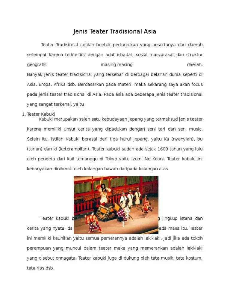 Jenis Teater Tradisional Asia : jenis, teater, tradisional, Macam, Dalam, Teater, Menata
