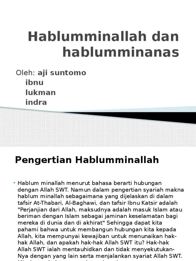 Hablum Minallah Hablum Minannas : hablum, minallah, minannas, Hablumminallah, Hablumminanas