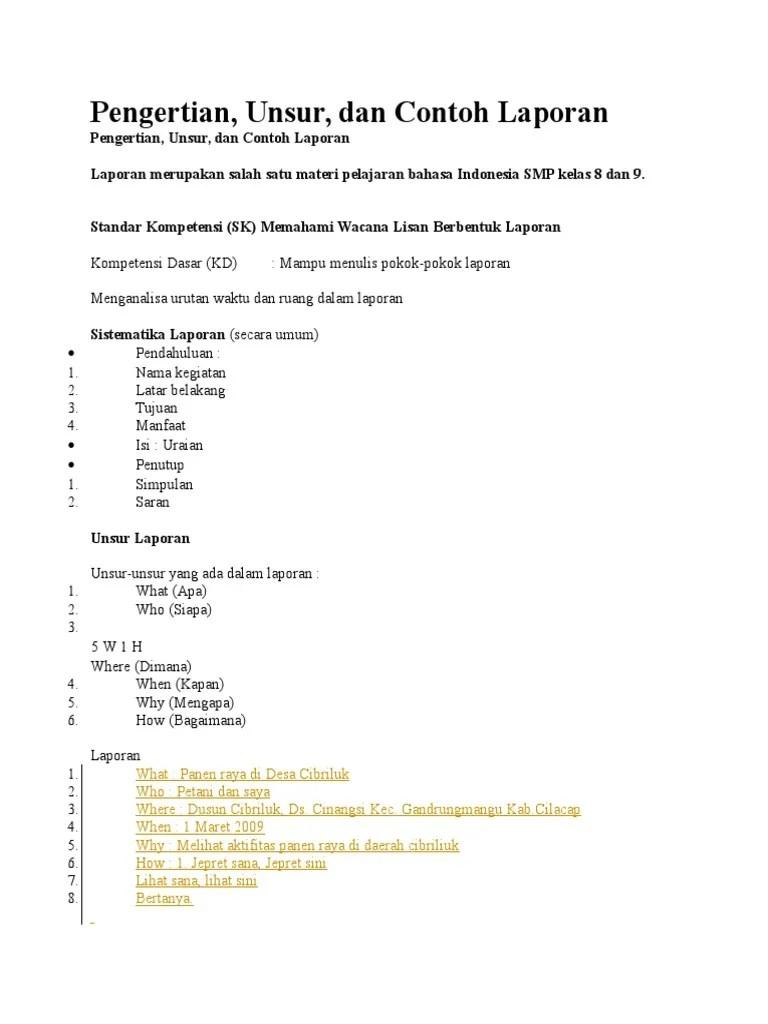 Contoh Pokok Pokok Laporan : contoh, pokok, laporan, Materi, Laporan, Perjalanan.docx