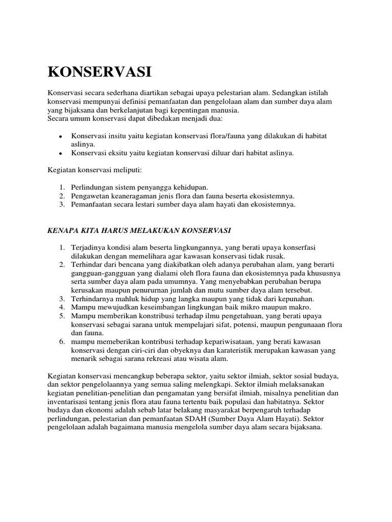 Upaya Konservasi Flora Dan Fauna : upaya, konservasi, flora, fauna, Materi, Konservasi