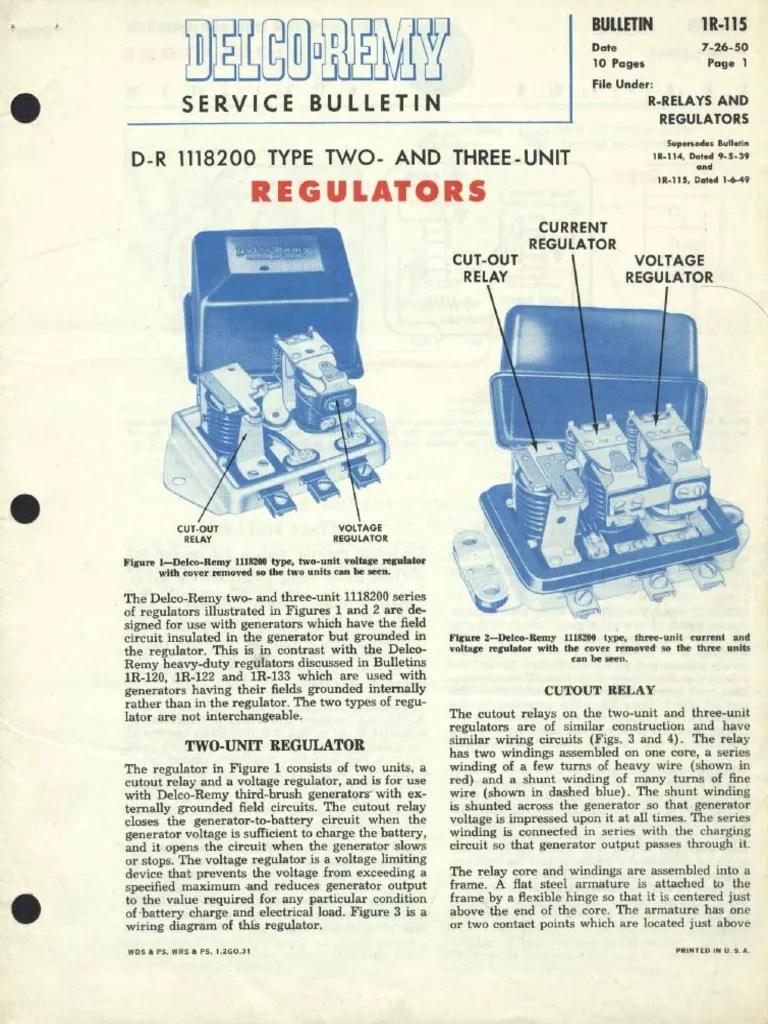 Delco Remy Voltage Regulator Wiring Diagram : delco, voltage, regulator, wiring, diagram, 1R-115.pdf