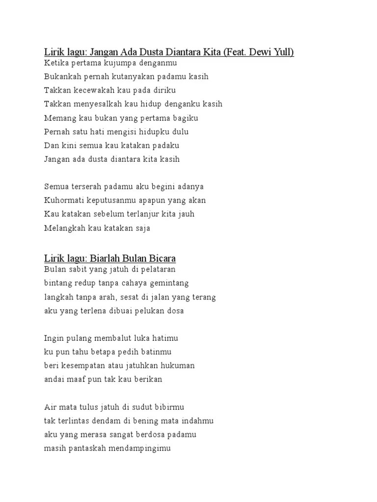 LirikdanLagu.Info: Lirik Lagu Rossa Jangan Ada Dusta