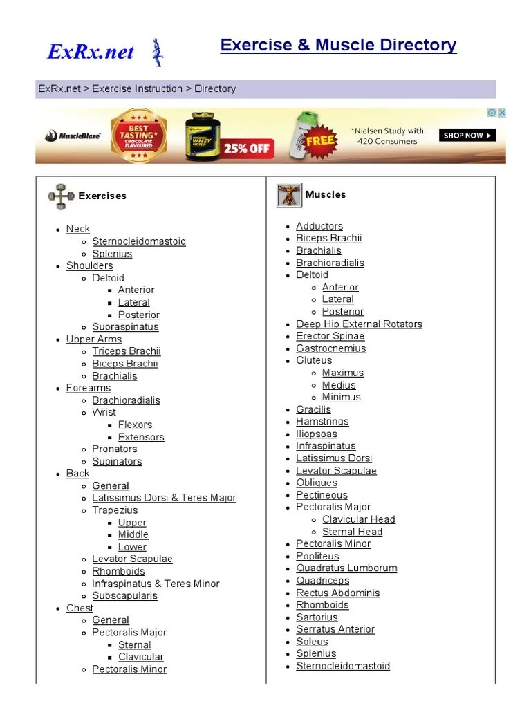 Exercise & Muscle Directory | Anatomical Terms Of Motion | Musculoskeletal System