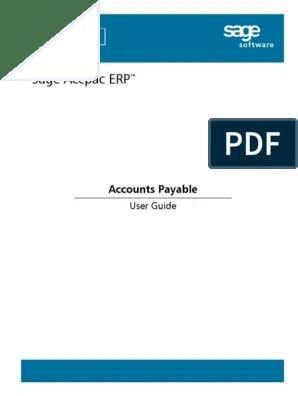 Sagesoftware.com Lc : sagesoftware.com, Accpac, Guide, Manual, Guide.pdf, Accounts, Payable, Debits, Credits