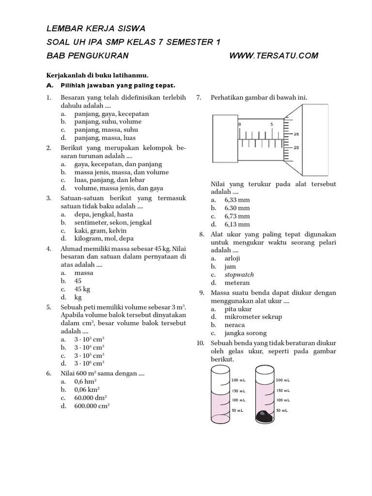 Fisika Kelas 7 : fisika, kelas, Rangkuman, Kelas, Semester, Materi, Pengukuran, Cute766