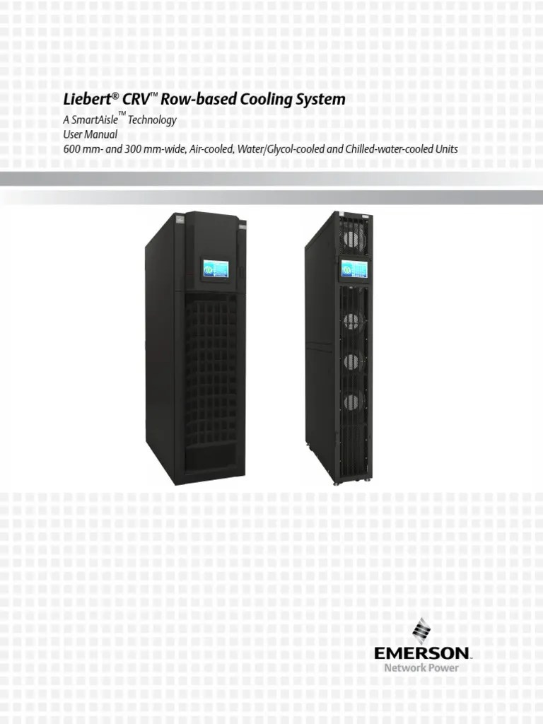 liebert crv row based cooling system user manual electrical connector switch [ 768 x 1024 Pixel ]