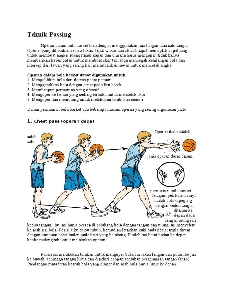 Teknik Passing Dalam Permainan Bola Basket : teknik, passing, dalam, permainan, basket, Jenis, Passing, Dalam, Permainan, Basket