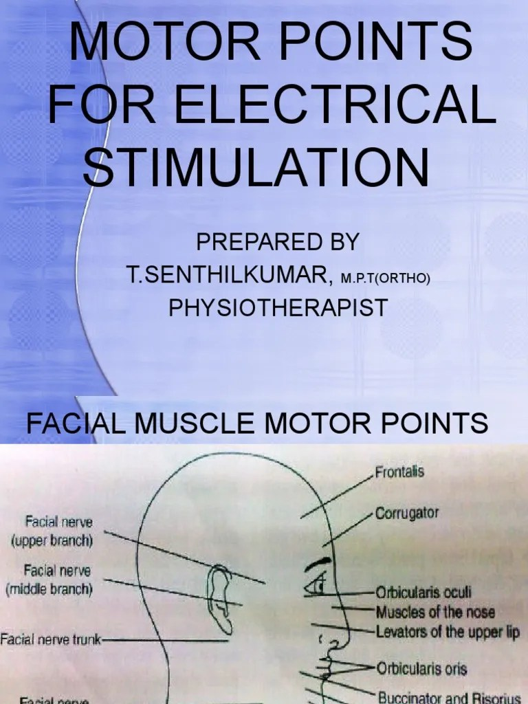 Electrical stimulation of facial muscles