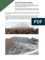 harga baja ringan 2017 depok jasa pemasangan atap 081319133263